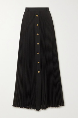 Philosophy di Lorenzo Serafini Pleated Georgette Maxi Skirt - Black