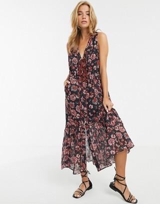 Stevie May Dakota floral print midi dress-Multi