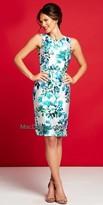 Mac Duggal Vintage Floral Knee Length Dress
