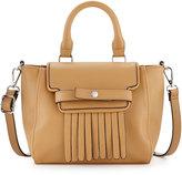 Neiman Marcus Lillian Fringe Crossbody Bag, Camel
