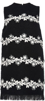 Andrew Gn Contrast Lace Embroidered Mini Dress