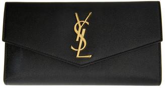 Saint Laurent Black Large Uptown Wallet