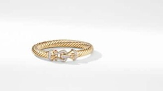 David Yurman Cable Buckle Bracelet In 18K Yellow Gold With Diamonds