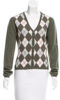 Burberry Wool Argyle Cardigan