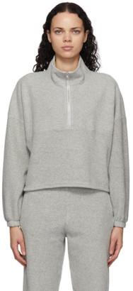 Gil Rodriguez Grey Sherpa Diana Half-Zip Sweatshirt