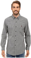 U.S. Polo Assn. Long Sleeve Classic Fit Hound's-Tooth Button Down Woven Shirt