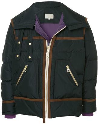 A(Lefrude)E Contrast Trim Padded Jacket