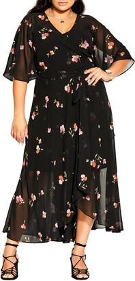 City Chic Petal Maxi Dress