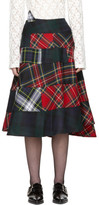 Comme des Garcons Red & Green Tartan Mix Skirt