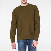 Paul Smith Men's Khaki Organic Loopback-Cotton Sweatshirt
