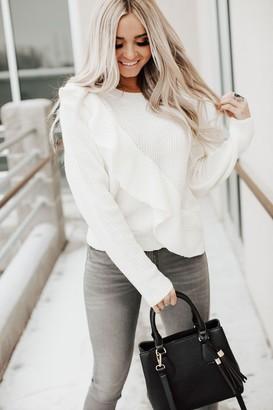Hallie Ribbed Ruffle Sweater