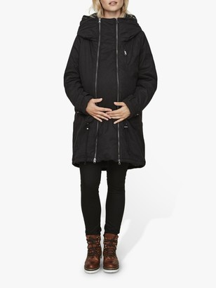 Mama Licious Mamalicious 3-in-1 Tikka Carry Me Padded Maternity and Beyond Jacket, Black