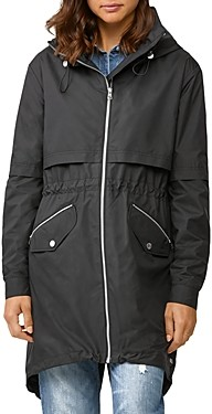 Soia & Kyo Desiree Zip-Up Hooded Raincoat