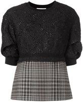 3.1 Phillip Lim floral cloqué sweatshirt - women - Silk/Polyamide/Polyester/Virgin Wool - 6