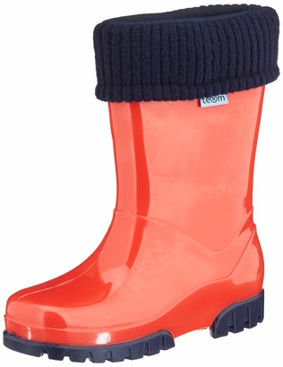 Term Unisex Kid's Welly with Rolltop Sock Wellington Boots