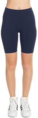 Hard Tail Flat Waist Bike Shorts (Black) Women's Shorts