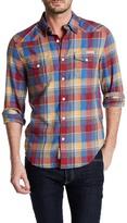 Lucky Brand Multi Plaid Long Sleeve Regular Fit Shirt