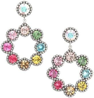 Dannijo Orion Silverplated Sterling Silver Crystal Glass Drop Earrings