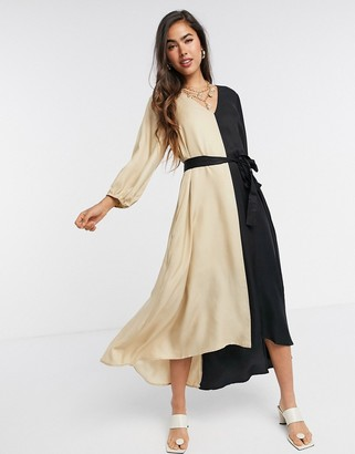 Gestuz Lorah contrast loose fit dress in mono