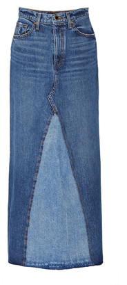 KHAITE Magdalena Denim Maxi Skirt