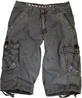 Stone Touch Mens Black Cargo Capri Shorts #A7S-1104s1