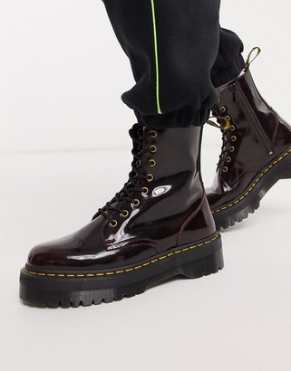 Dr. Martens jadon platform boots in red leather