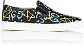 Gucci Men's GucciGhost-Print Leather Slip-On Sneakers