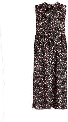Marni Ditsy Floral Print Silk Midi Dress