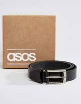 Asos Smart Leather Belt In Gift Box