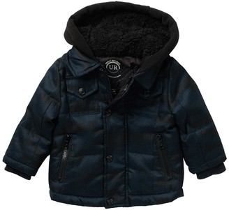 Urban Republic Faux Shearling Light Zip Pocket Jacket (Baby Boys)