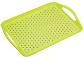 Kitchen Craft Colourworks Non-Slip Plastic Serving Tray by KitchenCraft, 41 x 28.5 cm (16 x 11 Inches) - Green