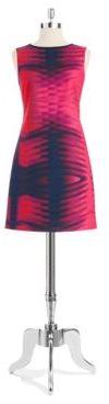 T Tahari Tie Dyed Shift Dress