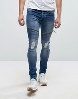 Loyalty And Faith Super Skinny Stretch Arundel Jeans In Midwash
