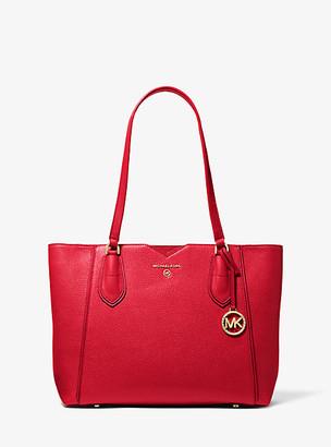 Michael Kors Mae Medium Pebbled Leather Tote Bag