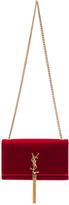 Saint Laurent Velvet Monogram Chain Bag