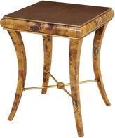 Maitland-Smith Tiger Penshell-Inlay Side Table, Natural