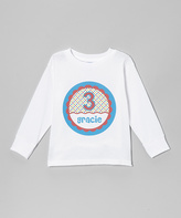Swag White Birthday Girl Personalized Tee - Kids & Tween
