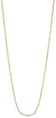 Scala Piazza Della 18K Yellow Gold & 8-8.5MM Round Freshwater Pearl Necklace