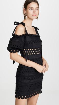 Zimmermann Verity Dot Off Shoulder Dress