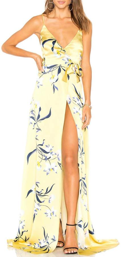 Amanda Uprichard Yellow Floral Maxi