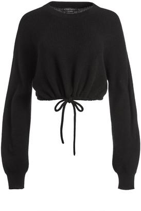 Alice + Olivia Corvina Blouson Crop Pullover