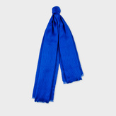 Paul Smith No.9 - Men's Indigo Silk-Cashmere Scarf