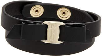 Salvatore Ferragamo Salvatore Ferrgamo Vara Bow Adjustable Leather Bracelet