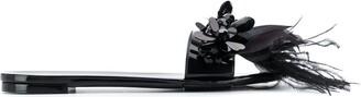 Simone Rocha Feather Embellished Slides