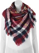 Candies Candie's® Boucle Plaid Triangle Scarf