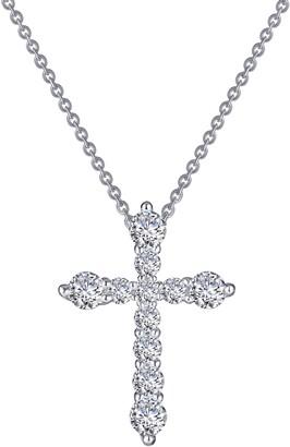 Lafonn Classic Simulated Diamond Cross Pendant Necklace