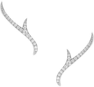 Stephen Webster White Gold and Diamond Thorn Stem Stud Earrings