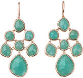 Monica Vinader Siren chandelier 18ct rose gold-plated and amazonite earrings