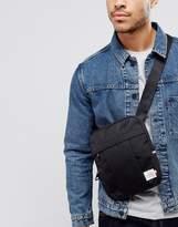 Tommy Hilfiger Nylon Label Flight Bag In Black