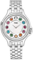 Fendi Crazy Carats Stainless Steel Diamond-Bezel Topaz Watch